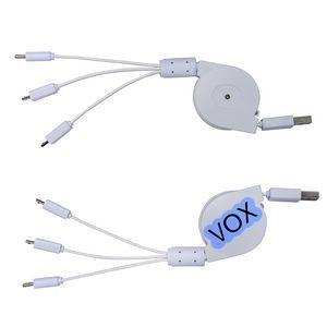 3 Way Retractable Cable Noodle