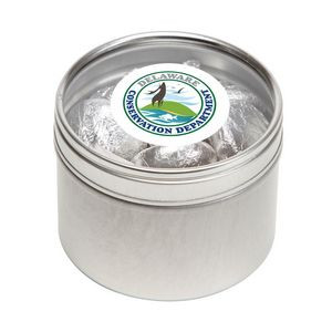 Hershey kisses in Small Round Window Tin