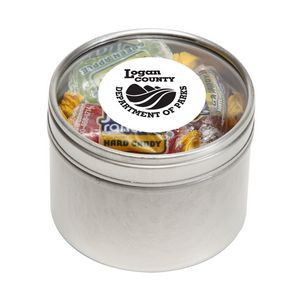 Jolly Ranchers in Small Round Window Tin