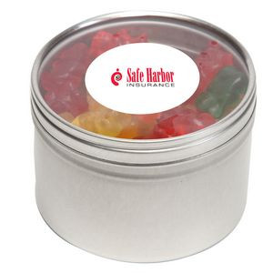 Gummy Bears in Large Round Window Tin