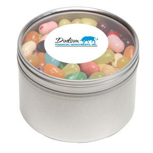 Jelly Bellys in Large Round Window Tin