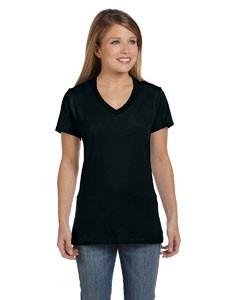 Hanes Ladies' 4.5 Oz. 100 percent Ring Spun Cotton nano-T® V-Neck T-Shirt