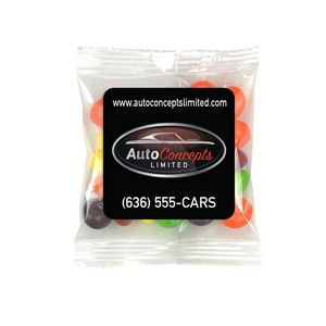 Square Magnet w/Mini Bag of Skittles