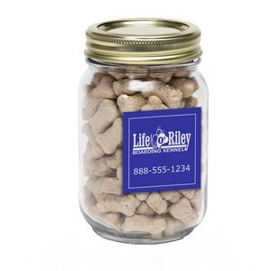 Mini Dog Bones in Pint Jar w/ Square Magnet