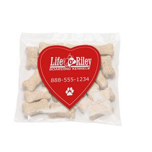 Mini Dog Bones in Bag with Heart Magnet