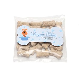 Mini Dog Bones in Bag with Bone Magnet