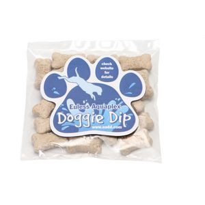 Mini Dog Bones in Bag with Paw Magnet