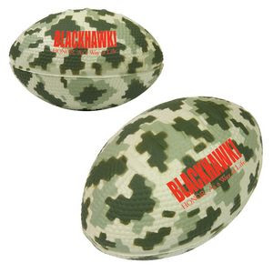 Small Digital Camouflage Football Stress Reliever