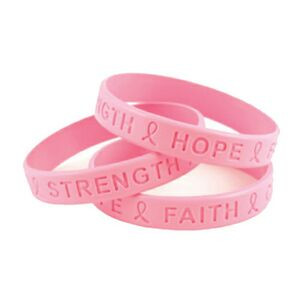Breast Cancer Awareness Printed Silicone Wristband