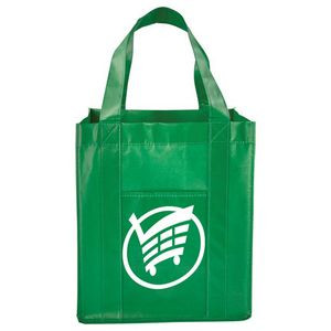 Two Pocket Laminated Non-Woven Grocery T