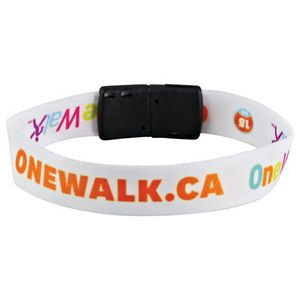 "Full Color 1/2"" Wristband w/ Clip"