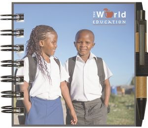 """ClearView™ Journal - Small Square w/PenPort & Pen (4""""x4"""")"""