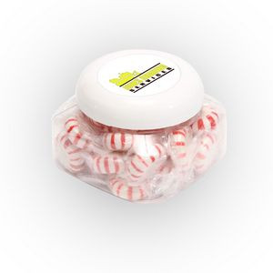 Striped Peppermints in Large Snack Canister