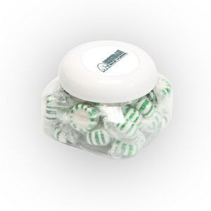 Striped Spearmints in Large Snack Canister