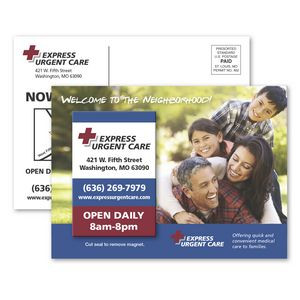 SuperSeal 4-1/8 x 5-5/8 Direct Mail Postcard