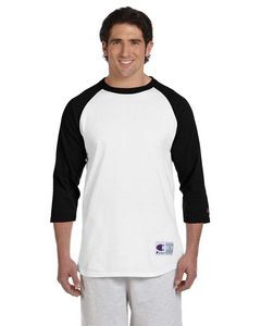 Champion® 5.2 Oz. Tagless Raglan Baseball T-Shirt