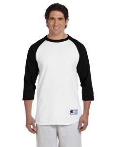 Champion® 5.2 Oz. Tagless Raglan Baseball T-Shirt