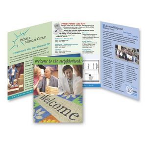 Trifold 6 x 13-1/4 Direct Mail Postcard