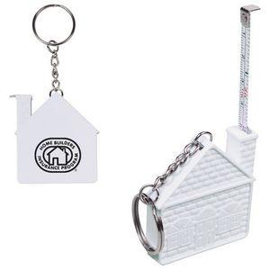 House Tape Measure Key Chain (3')