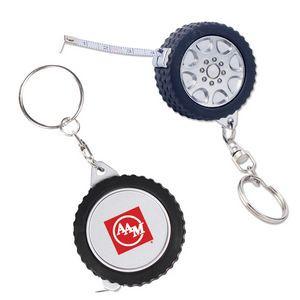 Tire Tape Measure Key Chain (3')