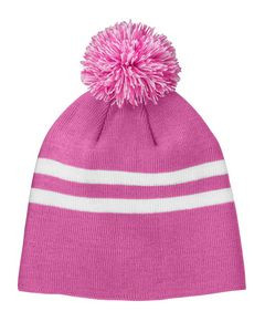 Team 365® Striped Pom Beanie