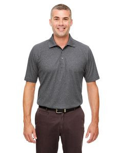 UltraClub® Men's Heathered Piqué Polo Shirt