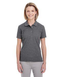 UltraClub® Ladies Heathered Piqué Polo Shirt