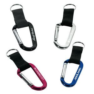70mm Carabiner w/ Web Strap & Split Ring