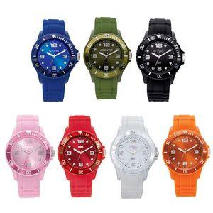 Watch Creations Unisex Watch w/Rubber Strap & Matching Bezel