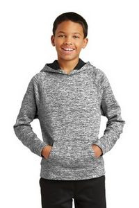 Sport-Tek® Youth PosiCharge® Electric Heather Fleece Hooded Pullover Sweater