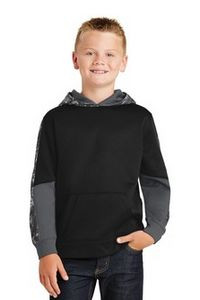 Sport-Tek® Youth Sport-Wick® Mineral Freeze Fleece Colorblock Hooded Pullover Shirt